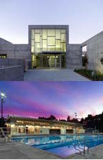 Top: Sava Pool, San Francisco, by Paulett Taggart Architects in a joint venture with Mark Cavagnero Associates. Bottom: Calistoga Community Pool, Napa Valley, by Paulett Taggart Architects.