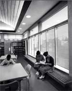 Berkeley South Branch Library: 1961 photo of the original library interior.