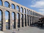 Roman Aqueduct of Segovia, constructed in 1 AD and still in use today.