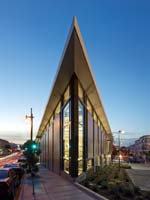 North Beach Branch Library, San Francisco: Built on a former triangular parking lot, the LEED Gold library creates a civic lantern for the community.
