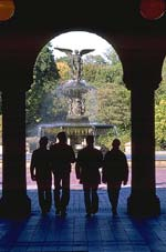 "Gateways: A pedestrian tunnel under 72nd Street at the end of the Mall in Central Park provides a dramatic gateway to the Bethesda Terrace and Fountain; gateways add to the emotional sense of ""arrival."""
