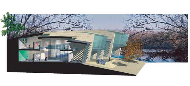 برش پرسپکتیو بال نمایشگاهی موزه