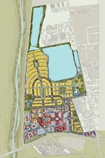 Site plan: RiverPark, a 700-acre mixed-use development in Oxnard, California