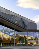 Utah State University's new Performance Hall takes its inspiration from the surrounding mountains