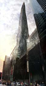 Tour de Verre: proposed 75-story tower adjacent to the Museum of Modern Art, New York City (in progress)