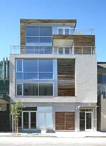 The mixed-use, urban infill project has enviable eco-friendly credentials; the three-unit condo, with street-level commercial space, designed to be healthier and more energy- and resource-efficient, has been GreenPoint Rated